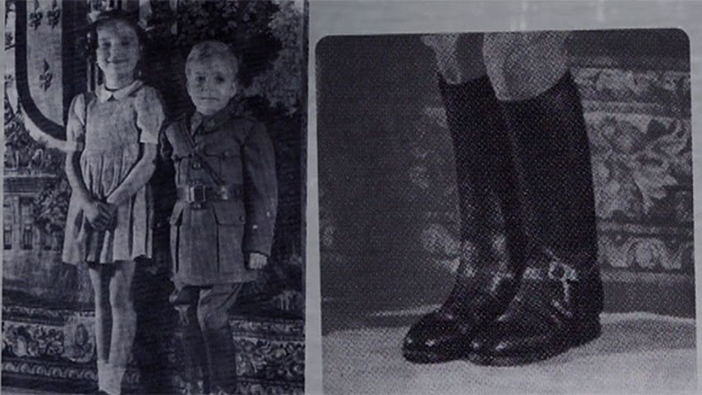 La primera imagen de Juanito de militar