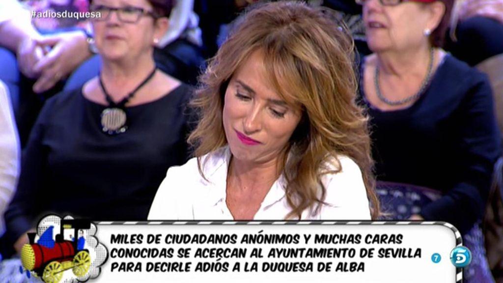 """María Patiño bromea con Jorge Javier: """"Me das besitos como a Karmele"""""""