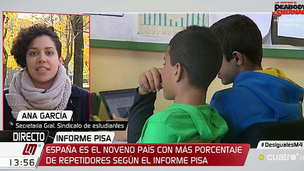 """Ana García: """"A pesar de los números, el gobierno y la OCDE tratan de sacar sus conclusiones interesadas"""""""