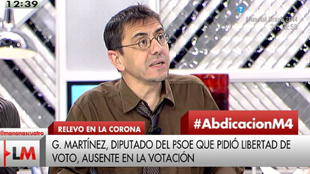 """Mondero: """"Decís que la transición fue maravillosa pero el resultado es que el pueblo nunca está maduro para opinar"""""""