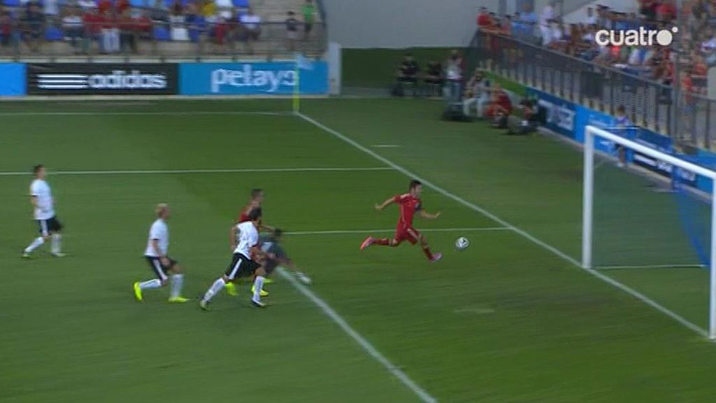 Sarabia engaña a todos los austríacos para marcar el gol que adelanta a España