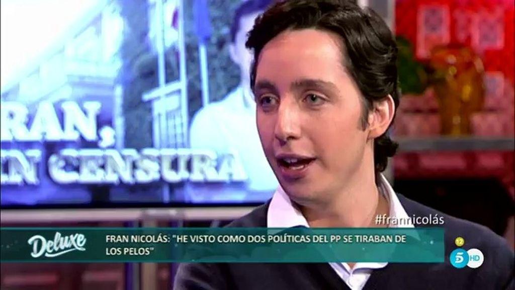 """Fran Nicolás: """"Hay más cotilleos en la sede del PP que en 'Sálvame Deluxe"""""""