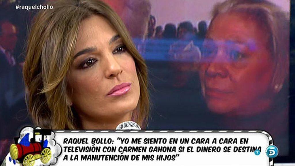 "Raquel Bollo: ""No acepto un 'cara a cara' con Gaona, que se siente Chiquetete"""