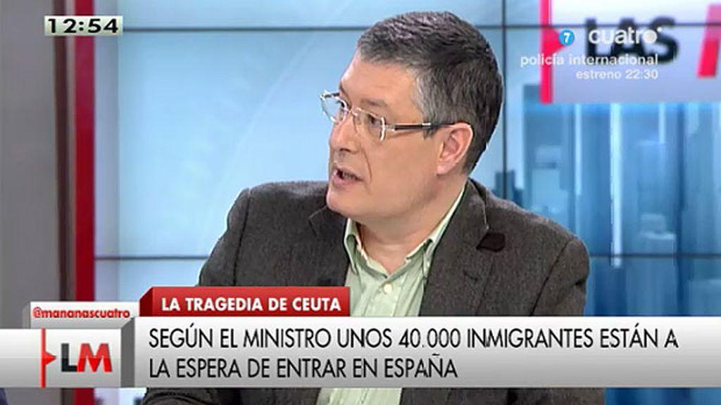"J.M. Benito: ""Hay miles de subsaharianos tirados en las cunetas esperando entrar"""