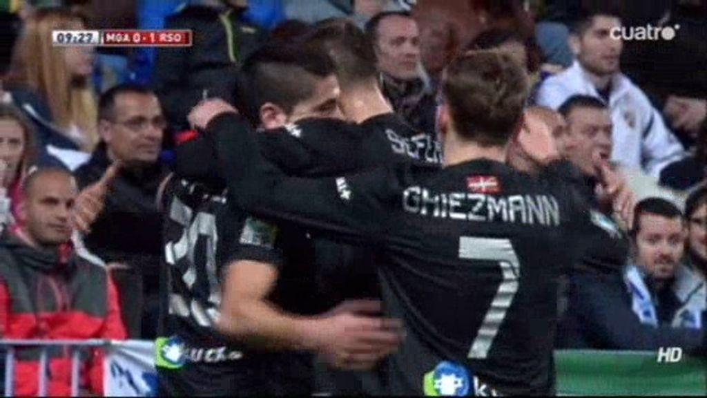 Gol de Vela (Málaga 0-1 Real Sociedad)