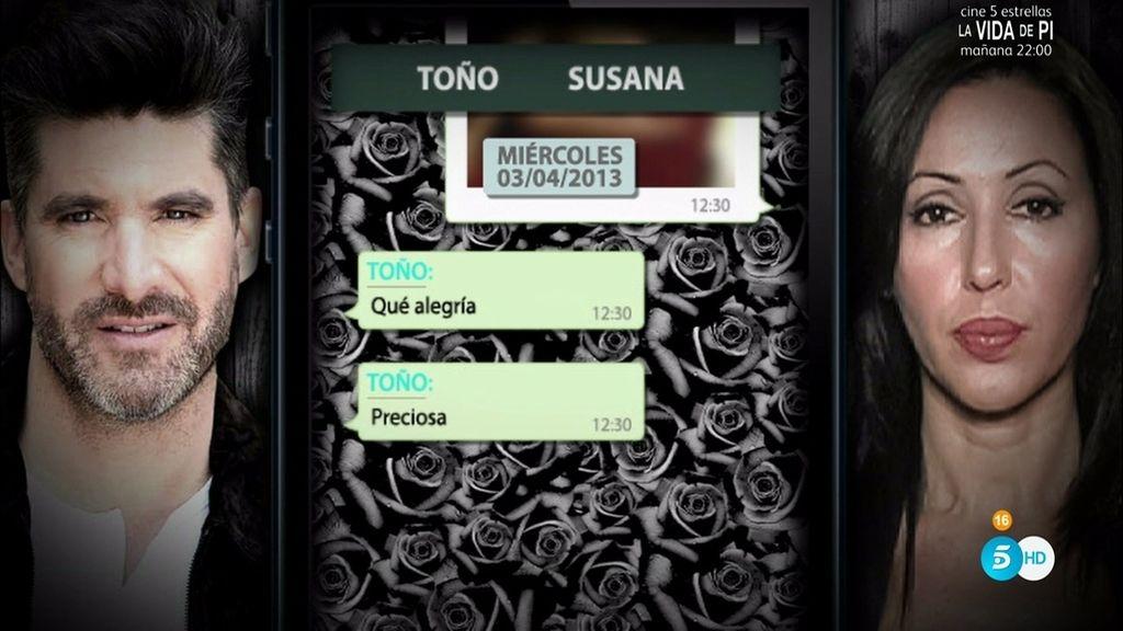"""Toño Sanchís, tras recibir una imagen de Susana: """"Cómo echo de menos ese cuerpazo"""""""