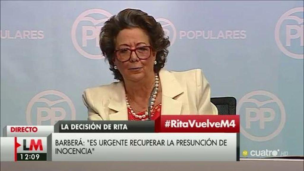 "Rita Barberá: ""Todo es absolutamente falso"""