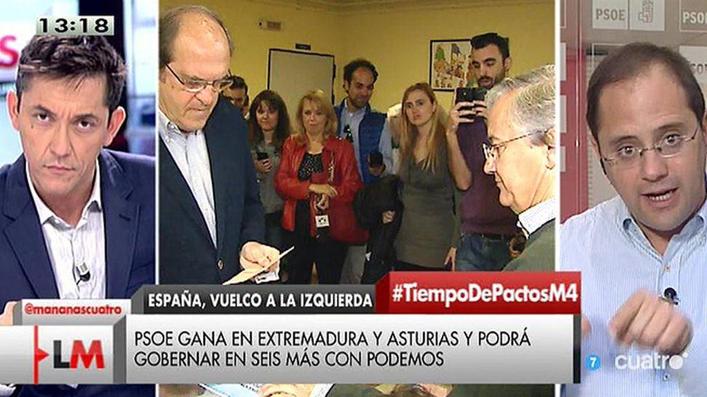 """César Luena: """"El cambio va a girar en torno al PSOE y a las políticas del PSOE"""""""