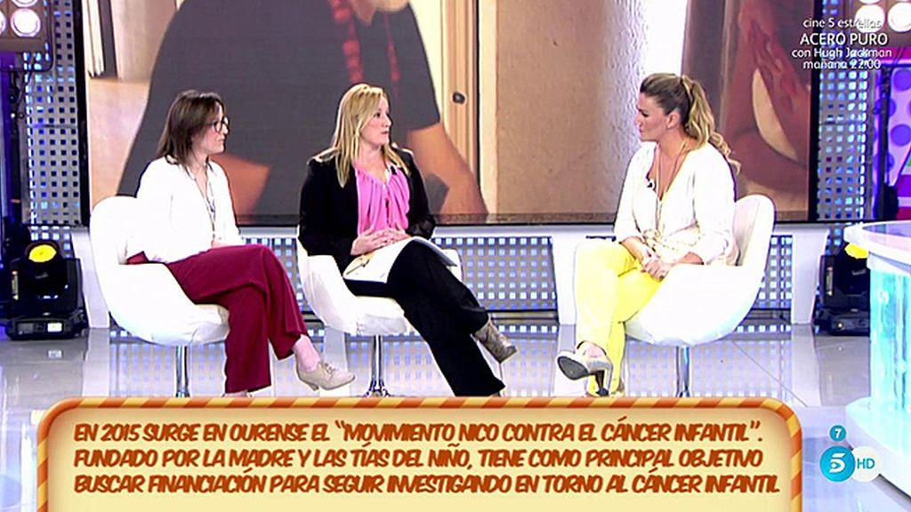 Carlota y los colaboradores de 'Sálvame' con 'Nico contra el cáncer infantil'