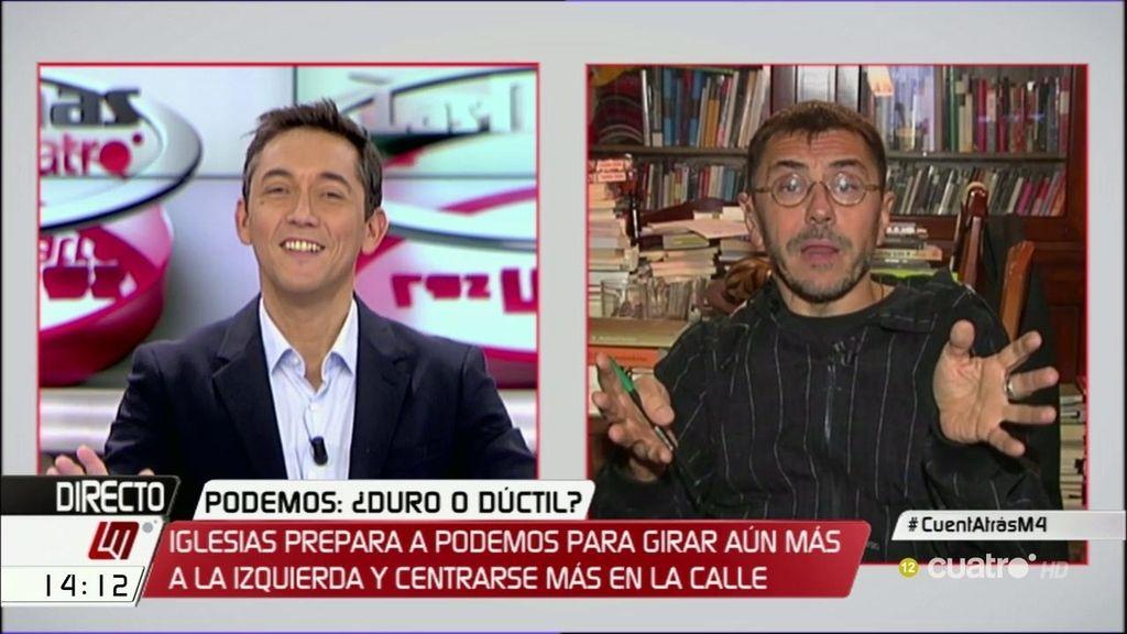 """Juan Carlos Monedero: """"El PSOE está convirtiendo a Unidos Podemos en el único partido de la oposición"""""""