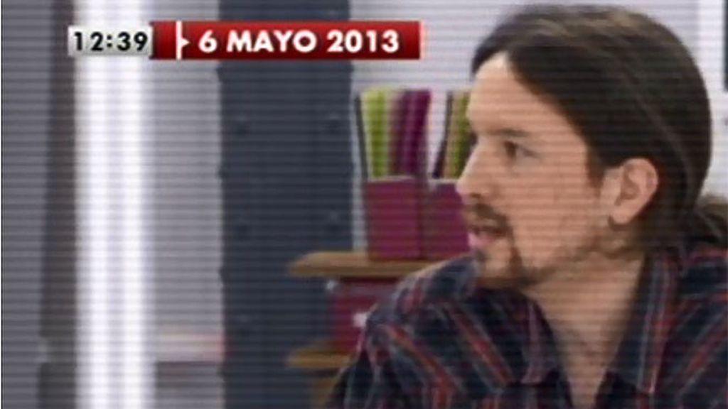 Así fue el debut de Pablo Iglesias en 'Las mañanas'