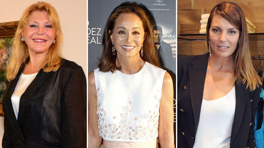 Isabel Preysler, Tita Cervera, Mar Flores... convertidas de modelos a 'celebrities'