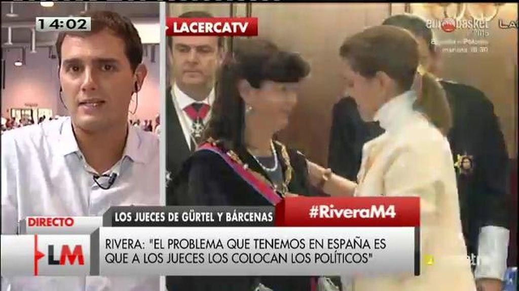 """Albert Rivera: """"El problema es que a los jueces los ponen los políticos"""""""