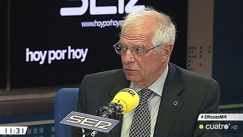 """Josep Borrell, exministro socialista: """"De seguir así, el PSOE podría implosionar"""""""