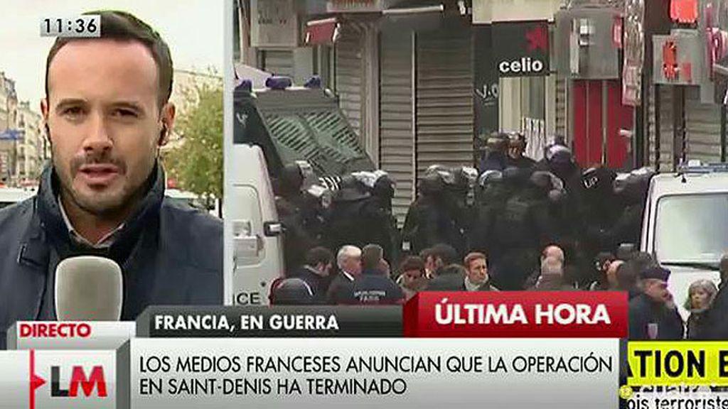 Finalizada la operación contra los yihadistas en el barrio de Saint-Denis