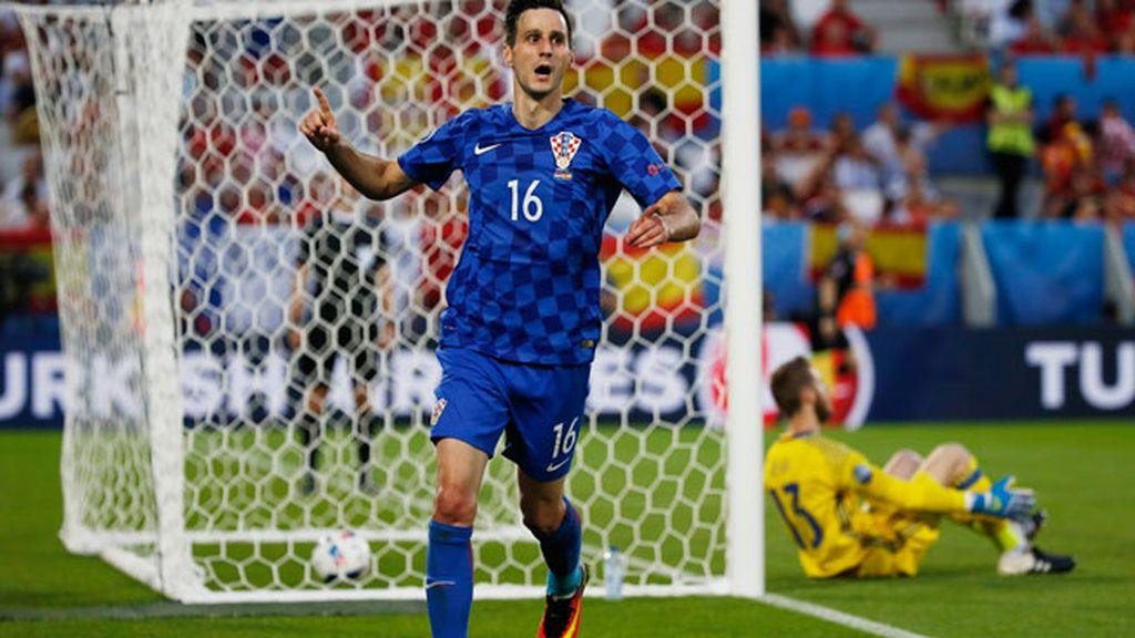 Croacia empata el partido: Gol de Kalinic en el último minuto de la primera parte (1-1)