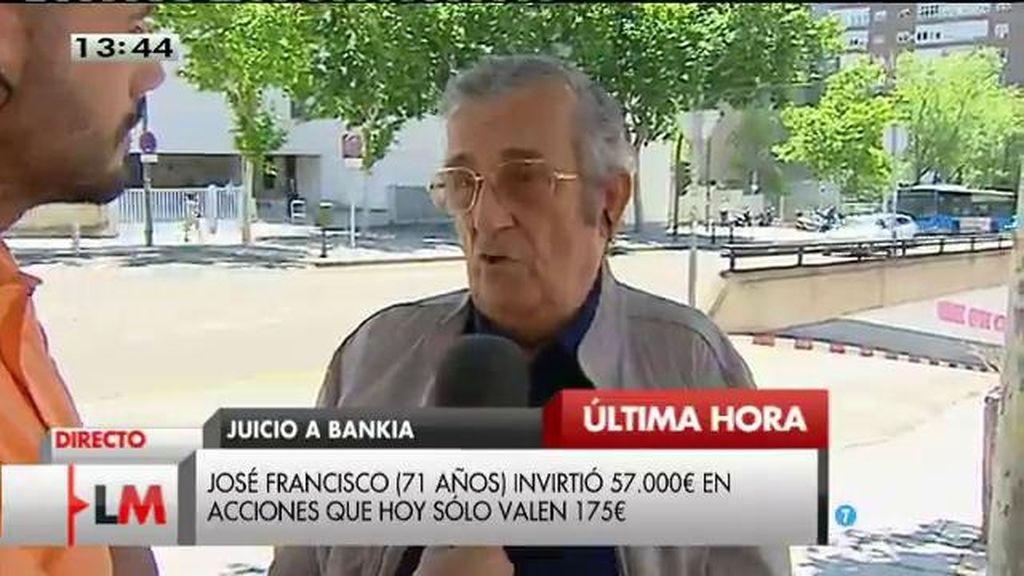 """José Francisco, sobre el juicio a Bankia: """"Lo que quieren es dilatar el juicio lo máximo"""""""