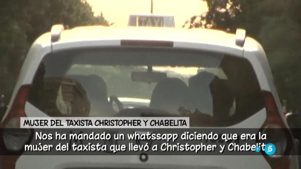 ¿Iban Chabelita y Christopher besándose en el taxi de vuelta al hotel?