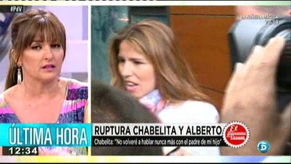 """Chabelita: """"No volveré a hablar nunca más con el padre de mi hijo"""""""