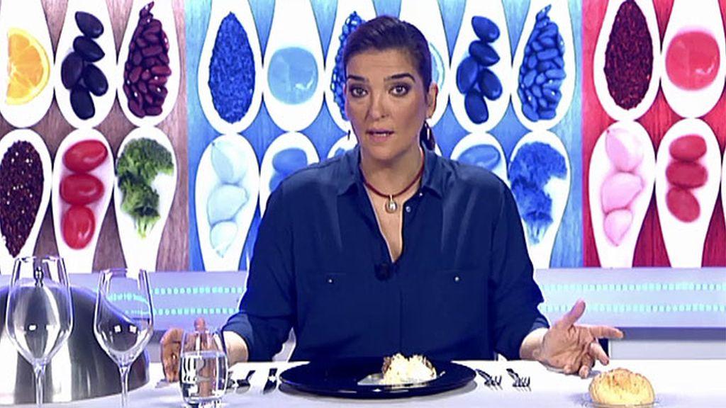 María Jiménez Latorre valora positivamente el plato de Montse y Regina