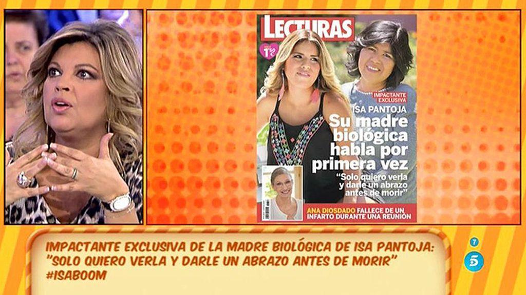 """Terelu Campos, sobre la exclusiva de la madre biológica de Isa Pantoja: """"Chabelita no se imaginaba algo así"""""""