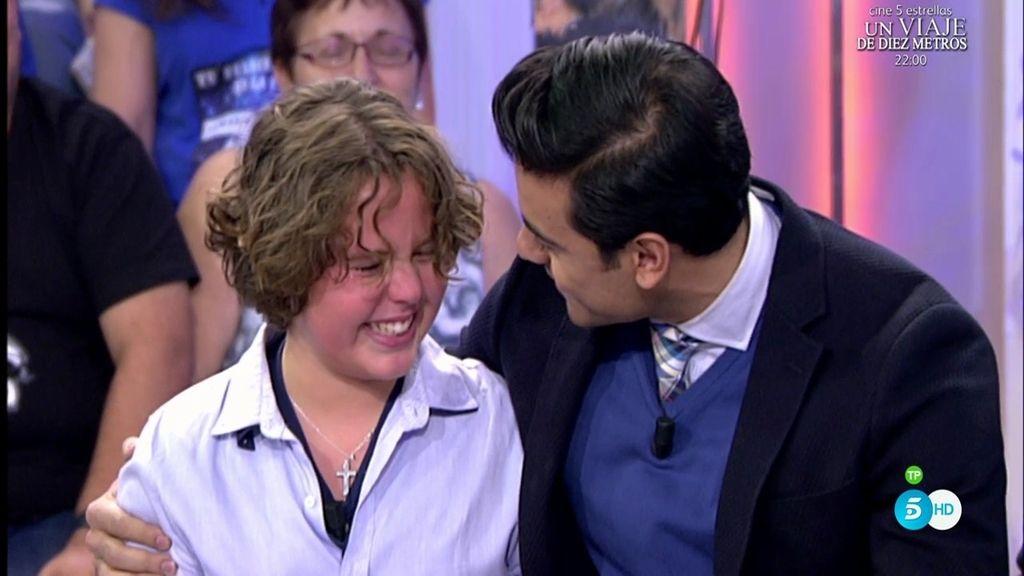Sergio, de 'La Voz Kids', emocionado al cumplir su sueño y conocer a Carlos Rivera