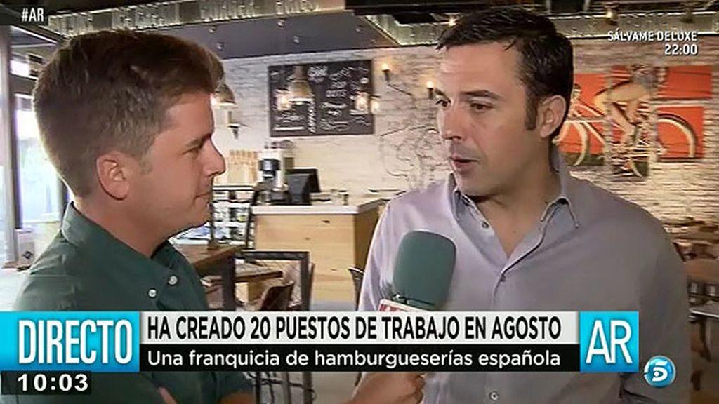 Una franquicia de hamburgueserías españolas crea 20 puestos de trabajo en agosto