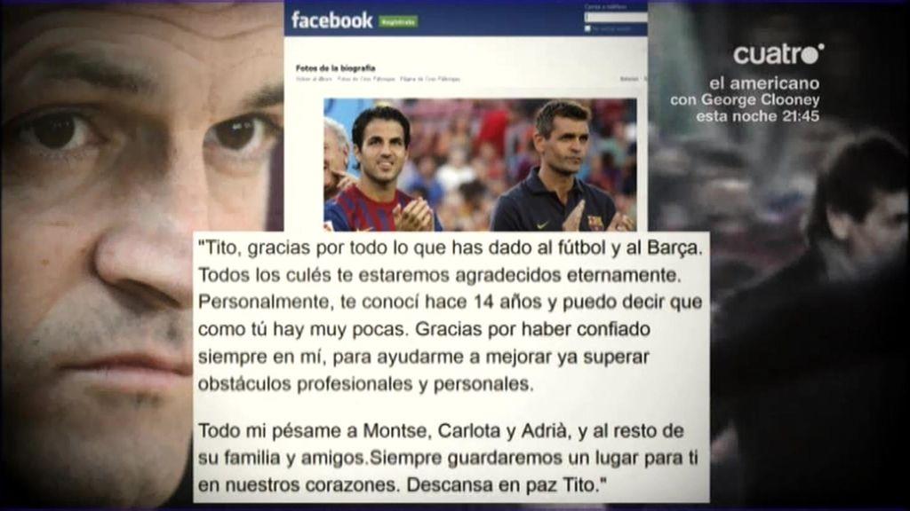 Las redes sociales dieron el último adiós a Tito Vilanova