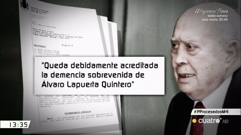La Audiencia Nacional archiva la causa contra Lapuerta por motivos de salud
