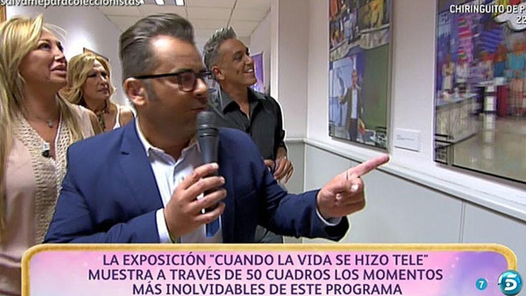 "Jorge Javier inaugura la exposición de 'Sálvame', ""Cuando la vida se hizo tele"""