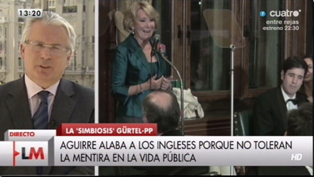 """Garzón, sobre Aguirre: """"No veo que tenga la misma necesidad de verdad cuando se trata de lo que acontece en la trama Gürtel"""""""