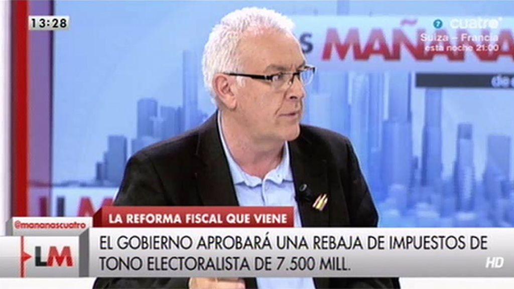 """Cayo Lara: """"Los impuestos están a nivel de capitalismo"""""""