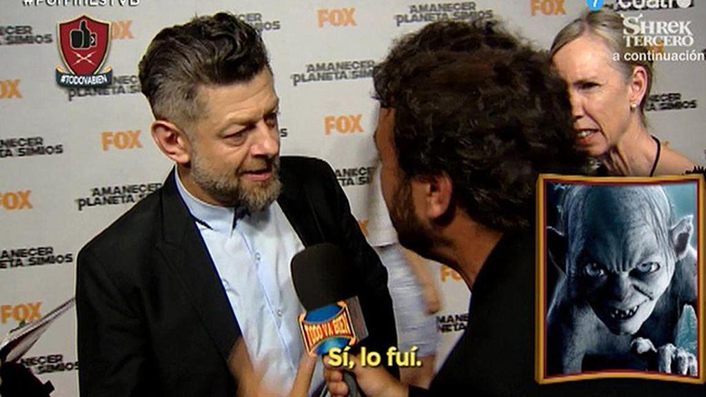 """Golum, en vivo y en directo para 'Todo va bien': """"Mi tesoro…"""""""