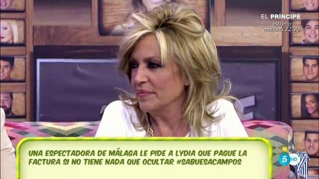 """Lydia Lozano, sobe la polémica en Benidorm: """"El hotel invitó a la cena, nunca pagó y pasó esa cena al ayuntamiento"""""""