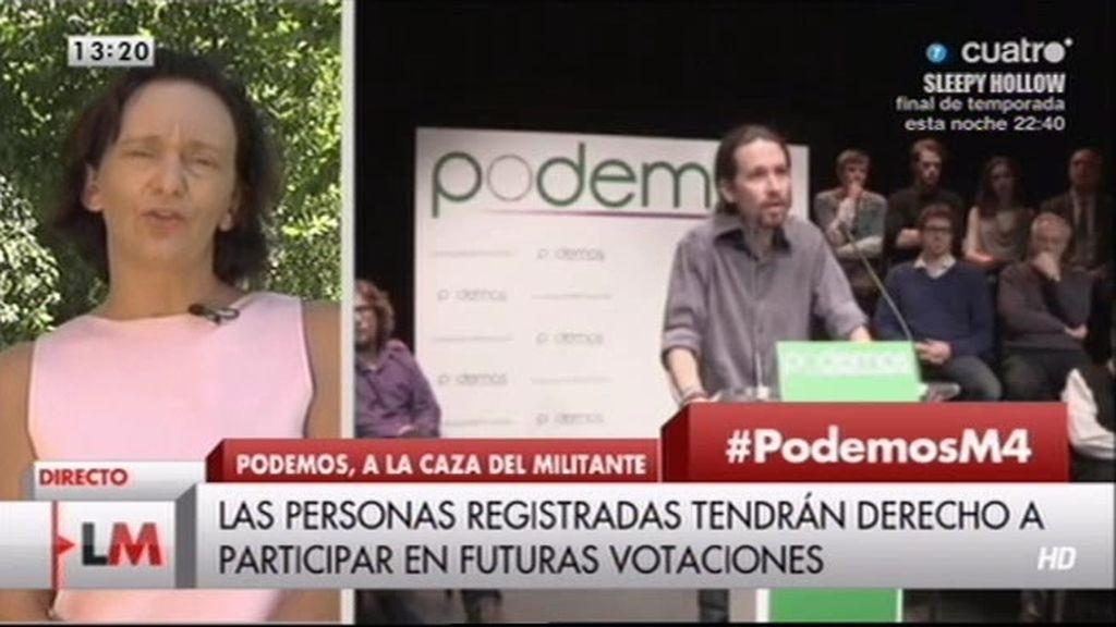 """Carolia, portavoz de 'Podemos': """"Los afiliados tendrán derecho a tomar decisiones"""""""