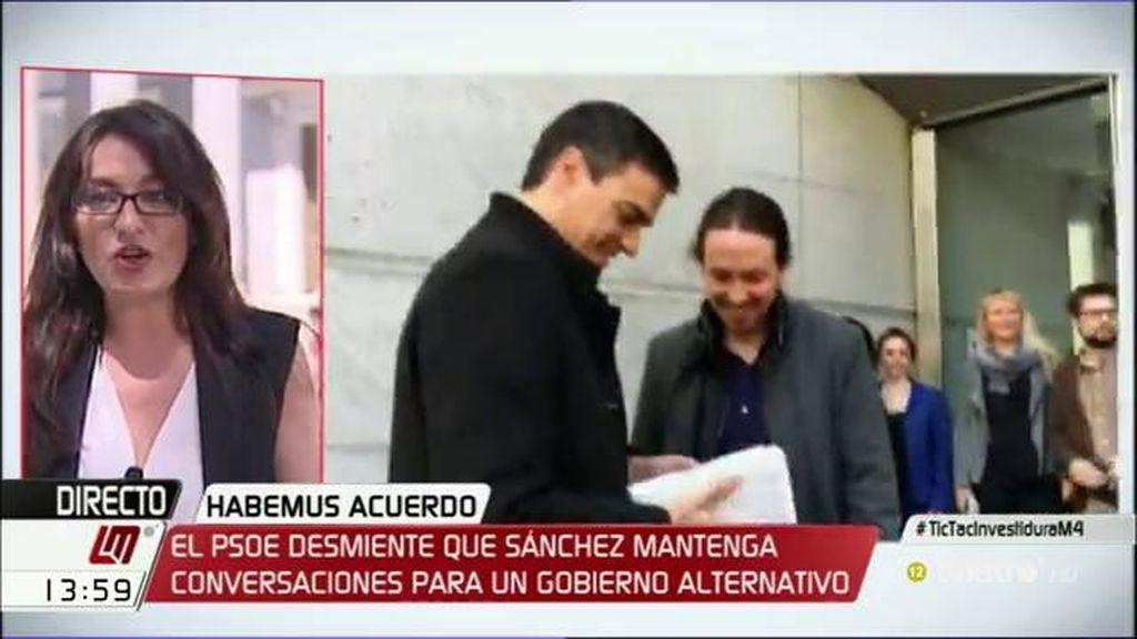 """Sol Sánchez, de las palabras de Iglesias sobre Sánchez: """"Se ha sacado de quicio, se estaba hablando, no negociando"""""""