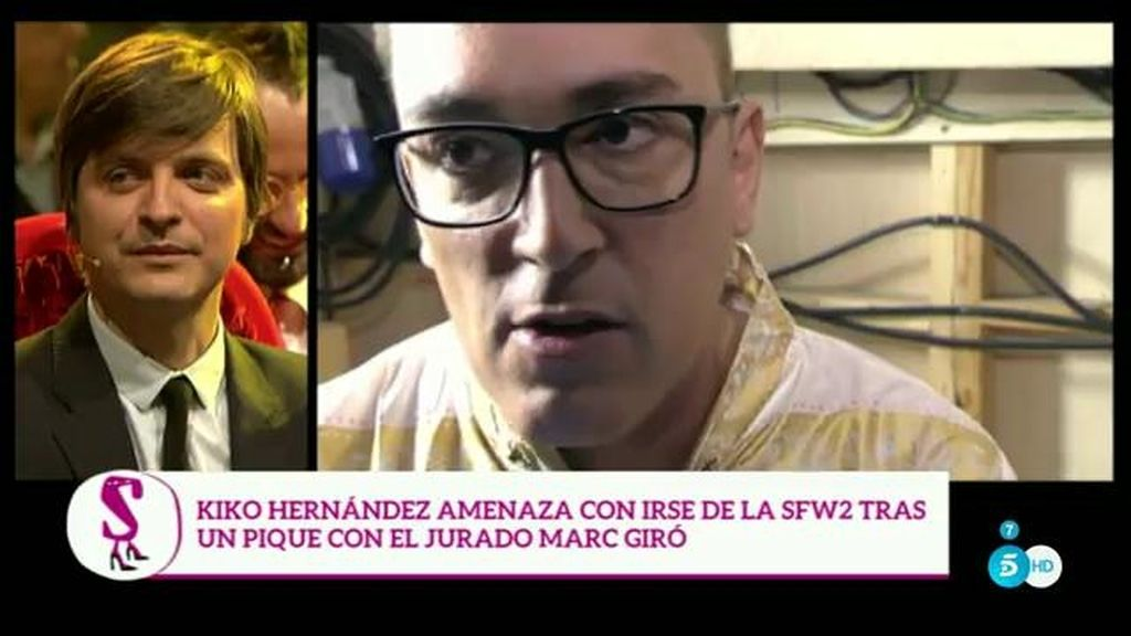 Kiko Hernández amenaza con irse de la 'SFW' por las acusaciones de 'cínico'