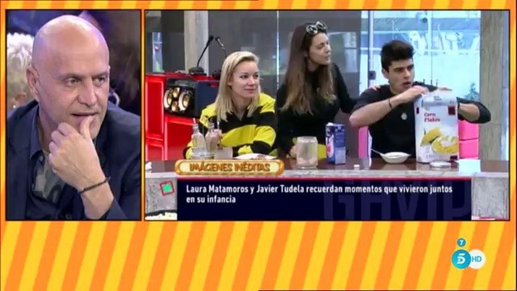 Javier Tudela y Laura Matamoros recuerdan momentos felices de su infancia