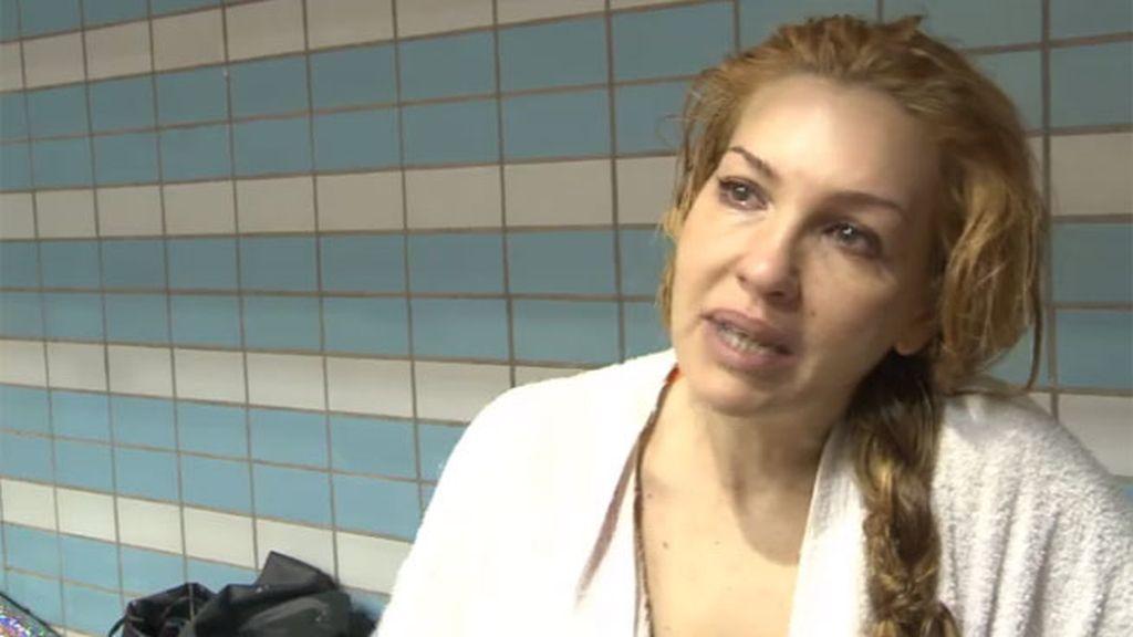 Laura Manzanedo se niega a saltar después de hacerse daño en la espalda
