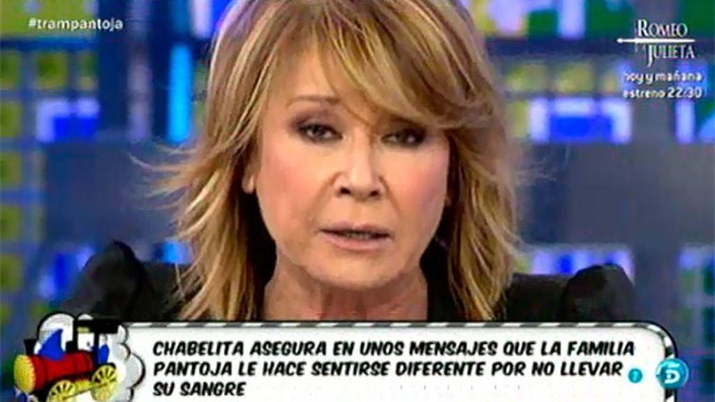 La madre de Alberto Isla no va a entrar en competencia con Isabel Pantoja, según Mila
