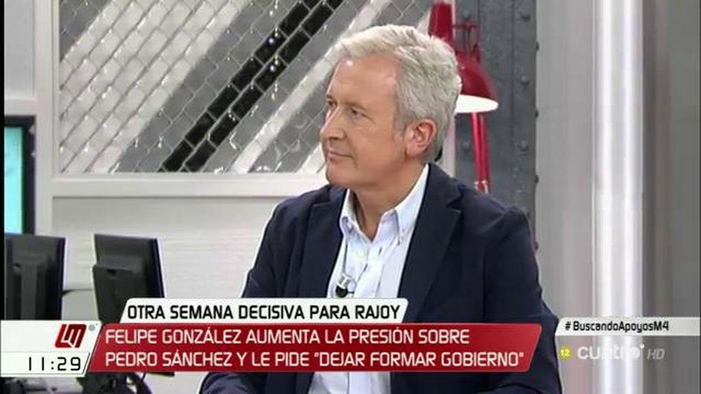 """Emilio del Río (PP): """"Para que haya oposición, tiene que haber un Gobierno, o esto o nos vamos a terceras elecciones"""""""