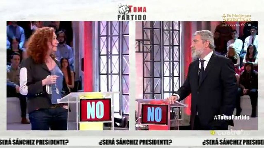 ¡Miguel Ángel Rodríguez convence a Cristina Fallarás que cambia su respuesta!