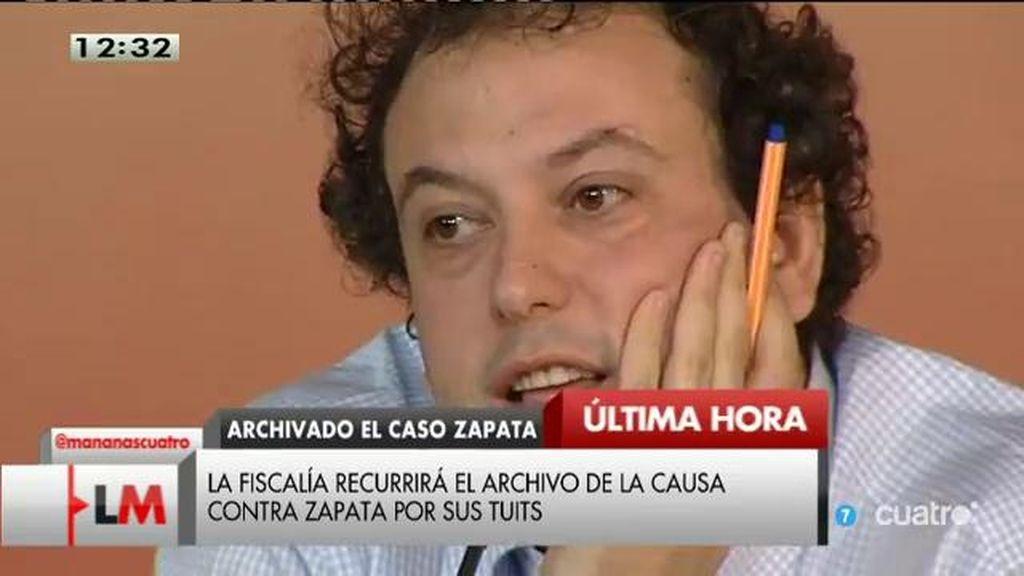 La Fiscalía recurrirá el archivo de la causa contra Zapata por sus tuits