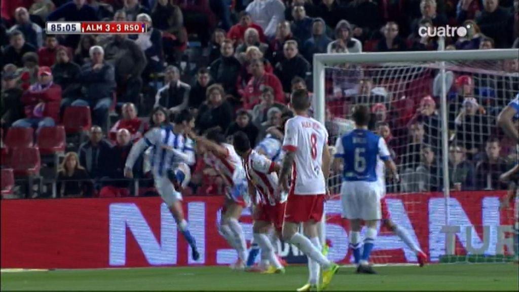 Gol de Vergara (Almería 3-3 Real Sociedad)