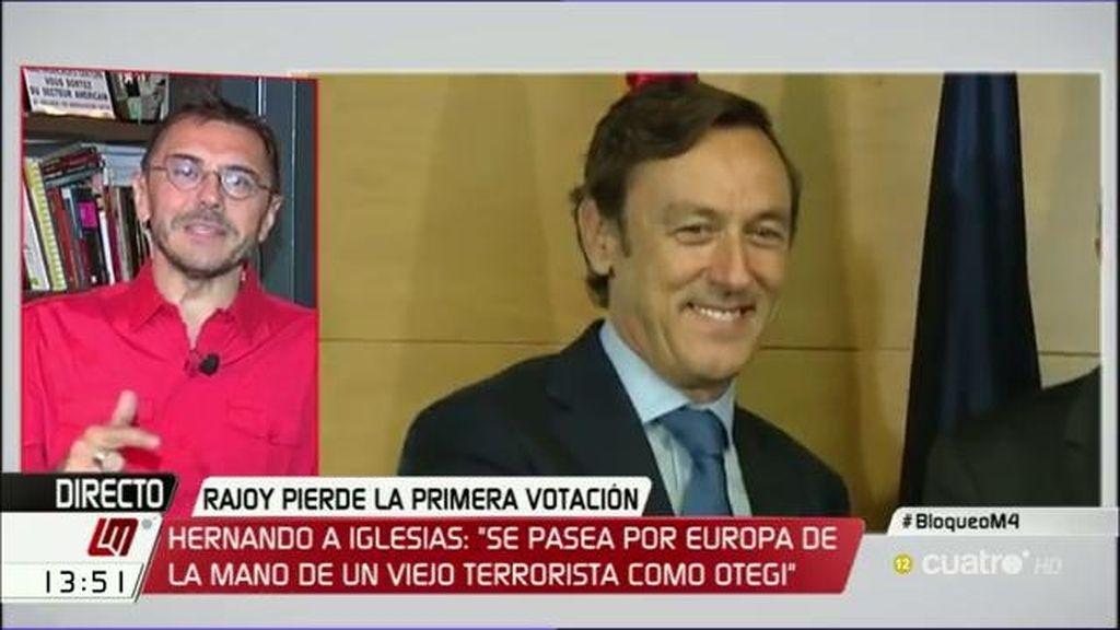 "Juan Carlos Monedero: ""Rafa Hernando se comporta como un franquista chuleta"""
