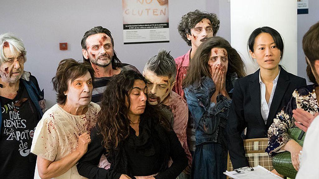 Noche de zombies: los montepinarianos aterrorizan al chino de Araceli