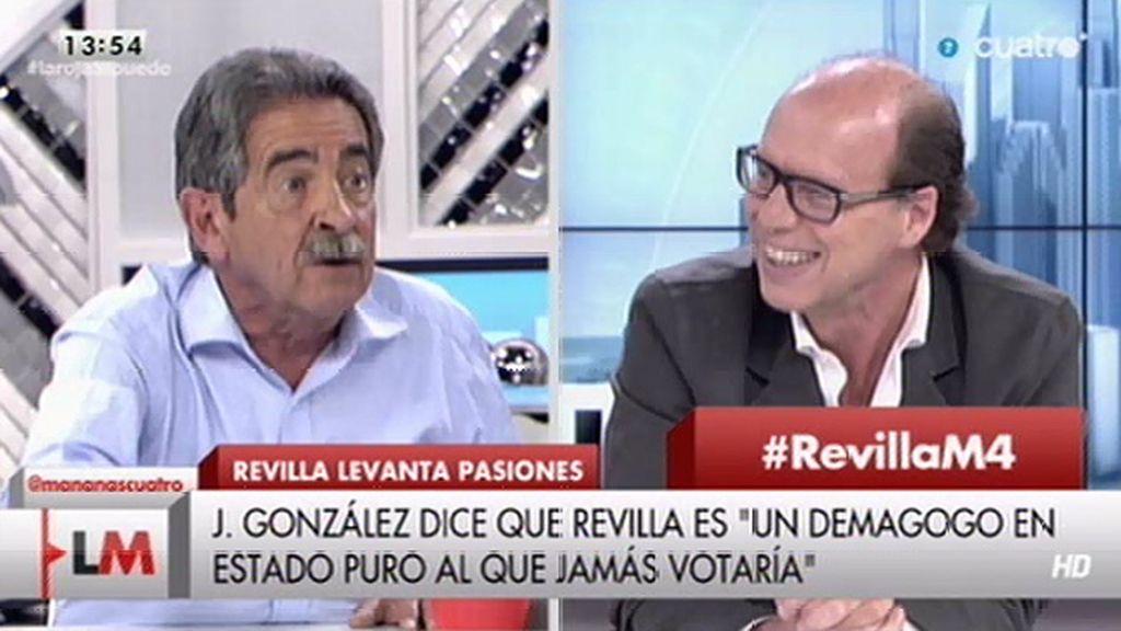 """Miguel Ángel Revilla, a Jaime González: """"Dime demagogo cuando estoy yo"""""""