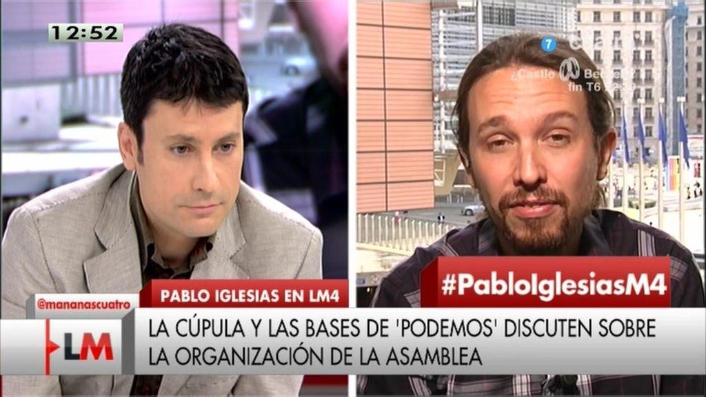 """Pablo Iglesias, sobre las críticas internas en 'Podemos': """"No tenemos miedo a que la gente vea cómo discutimos"""""""