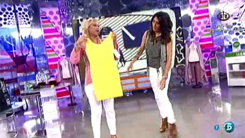 Katia Aveiro le regala un vestido a Belén