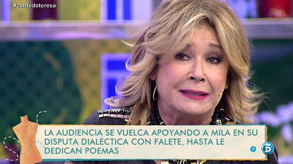 Mila recibe el apoyo de la audiencia en su guerra abierta contra Falete